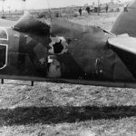 Damaged Bf 110 U8+GK