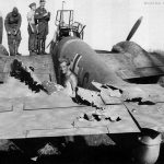 Bf110 with damaged tail