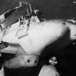 Luftwaffe pilot sits in the cockpit