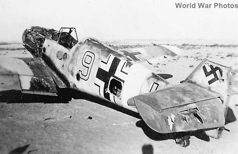 """Abandoned Me 109F-4 W.Nr. 12564 """"Yellow 9"""" of the JG53 Africa"""