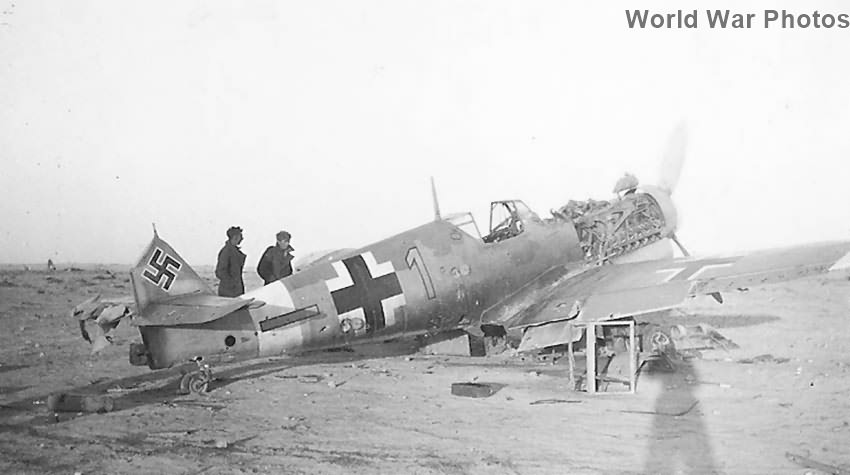 Abandoned Bf109 in African Desert 1