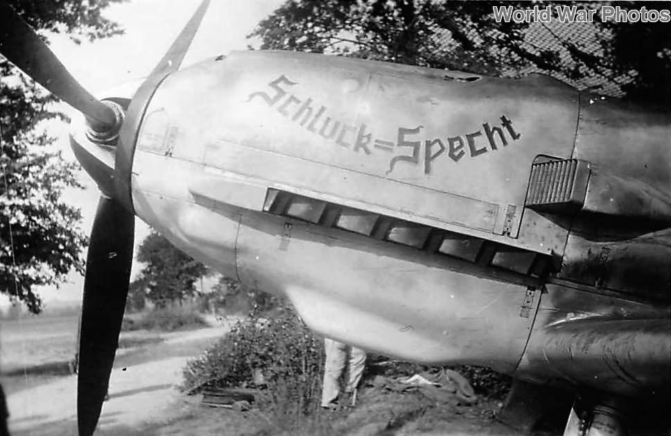 Bf109E of the JG 3 named Schluck=Specht, 1940
