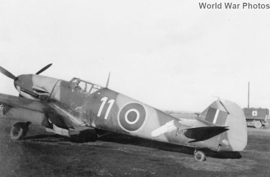 "British Bf 109F-2 ""White 11"" NN644"