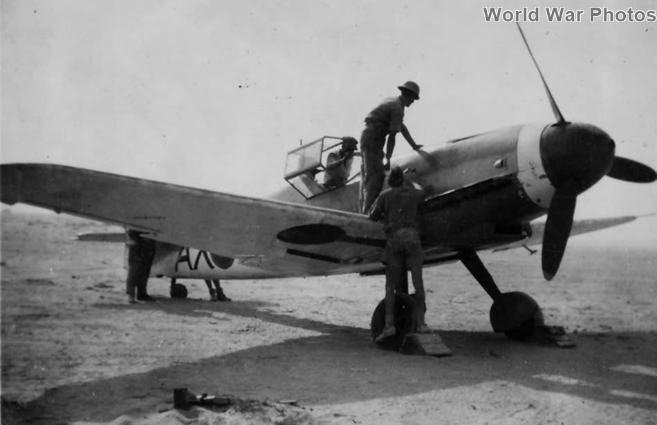 Captured Bf 109F-4 AX-? of the 1 Squadron SAAF, North Africa