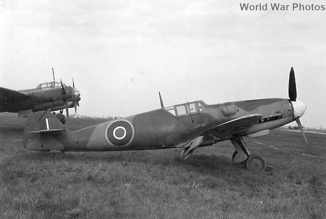 Captured Bf 109G-6 serial VX101, 1944