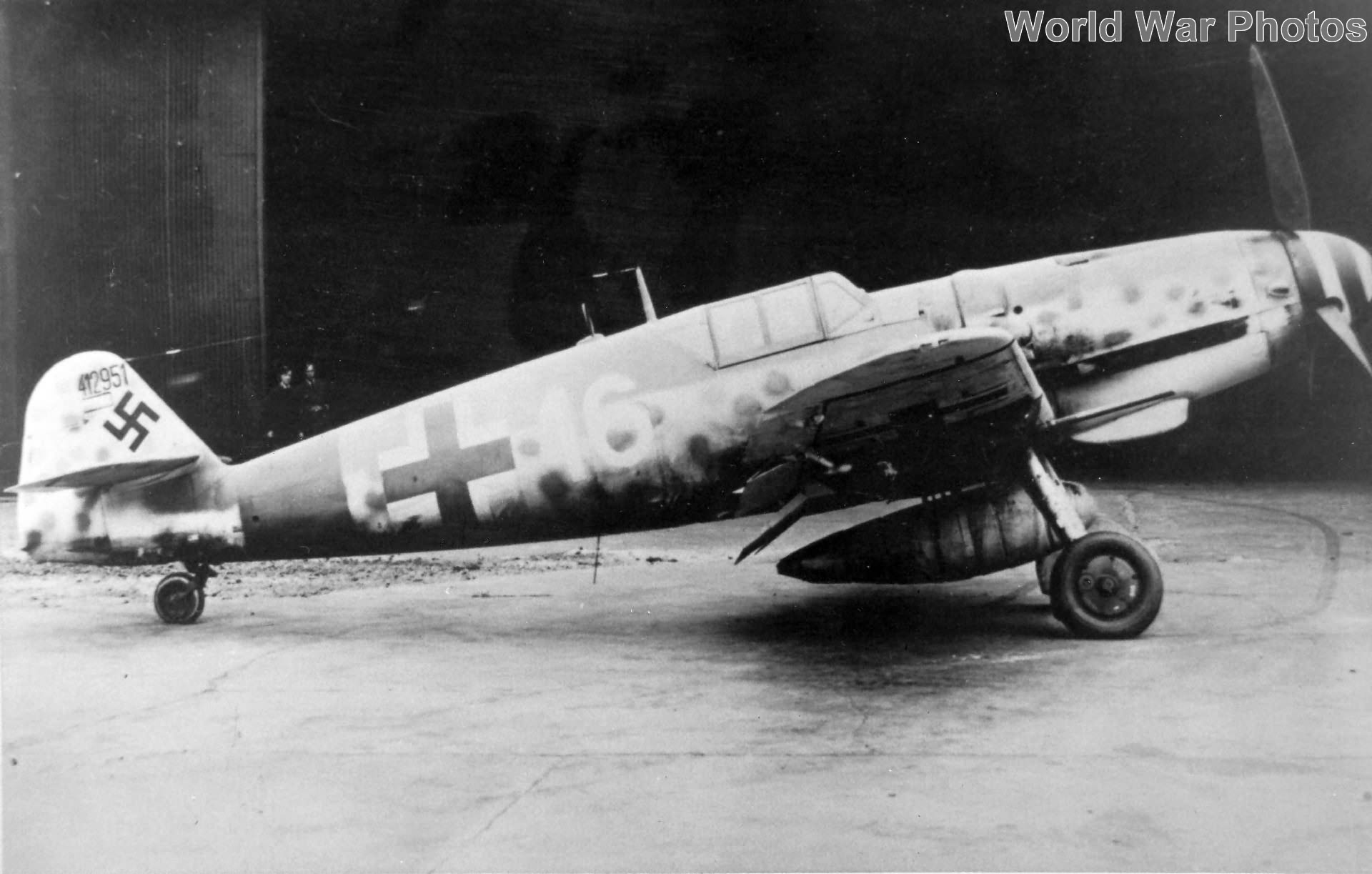 Captured Bf109G-6 W.Nr 412951 of the 1/JG 301