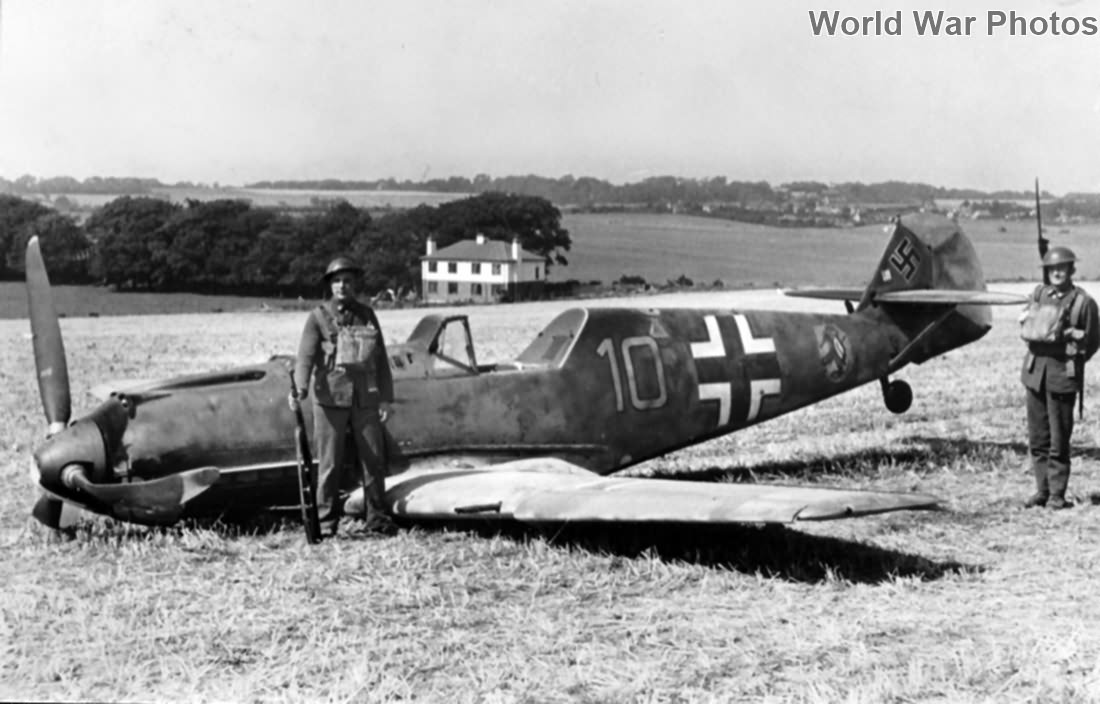 Bf 109E-4 W.Nr. 5587 6/JG 51 shot down by PO Bryan Wicks, 1940