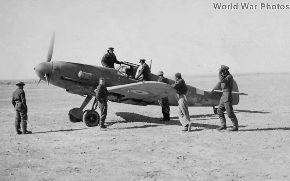 Captured Bf 109F-2 Yellow 2 ex 9/JG 27, 1942