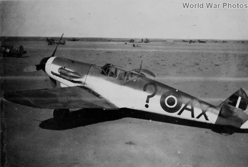 Captured Bf 109F-4 AX-? of the 1 Squadron SAAF, North Africa 3