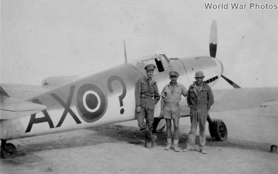 Captured Bf 109F-4 AX-? of the 1 Squadron SAAF 2