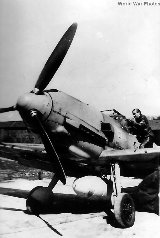 Major Adolf Galland and his Bf 109 E