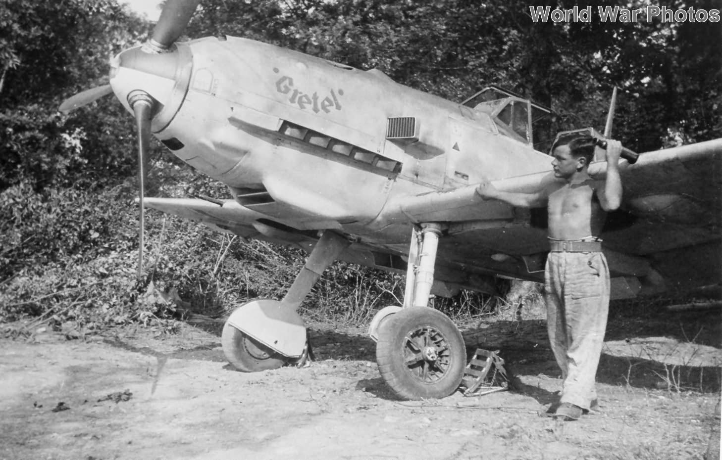 Bf 109E from JG 3 named Gretel