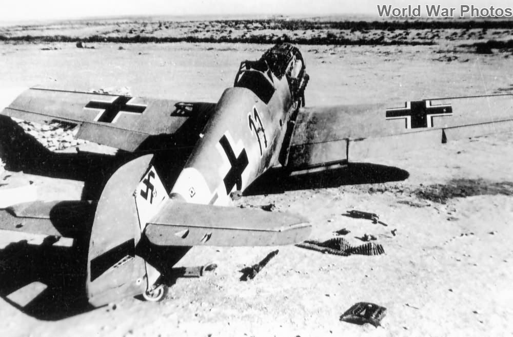 Abandoned Bf 109 black 11, North Africa