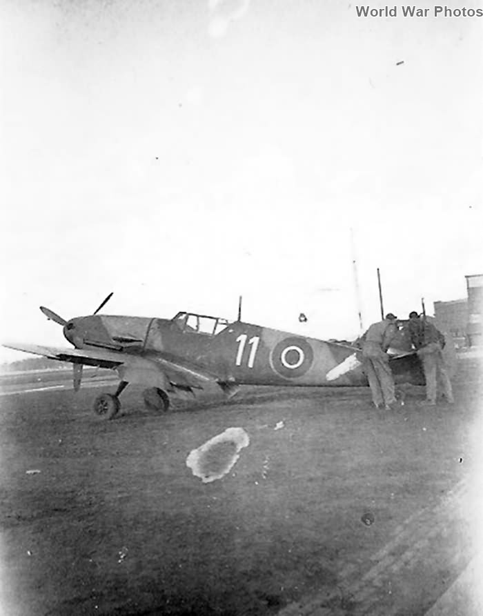 Captured Bf109 NN644 in British RAF markings
