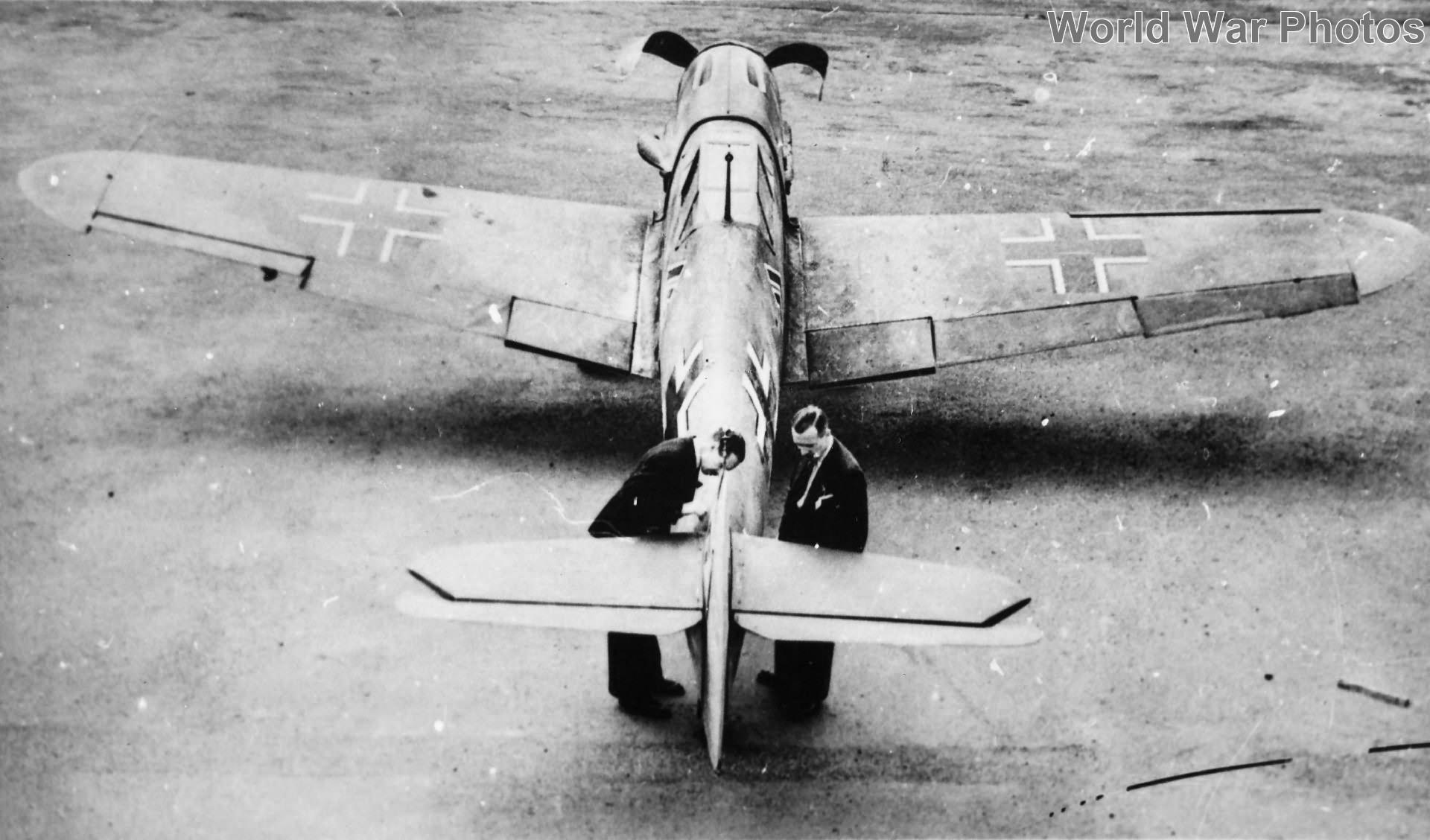 Captured Me109F-2 W.Nr. 12764 ex I/JG 26, 1941