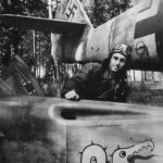 Ace Vladimir Kamenschikov and Bf109 of JG 3 with Tatzelwurm he downed