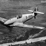 Bf 109V-4 D-IOQY in flight