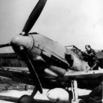 Major Adolf Galland and his Bf 109 E