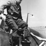 Walter Oesau Gruppenkommandeur of III/JG 3 on his Bf 109, 1941
