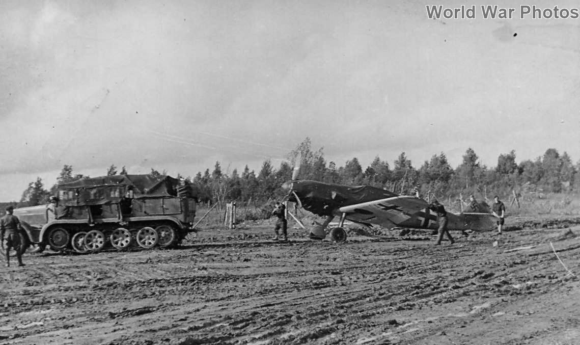 SdKfz 6 towing a Bf109