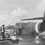 German flying boat Blohm & Voss BV222 tail