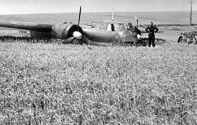 Do17 Z after crash landing