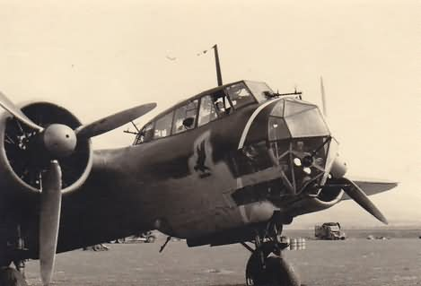 Dornier Do17 Z-2 of 1/KG 2 with unit marking Athen Tatoi 1941 2