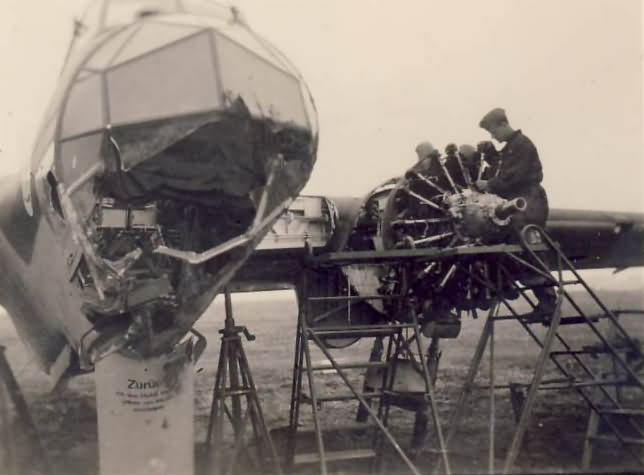 Dornier Do17 damaged