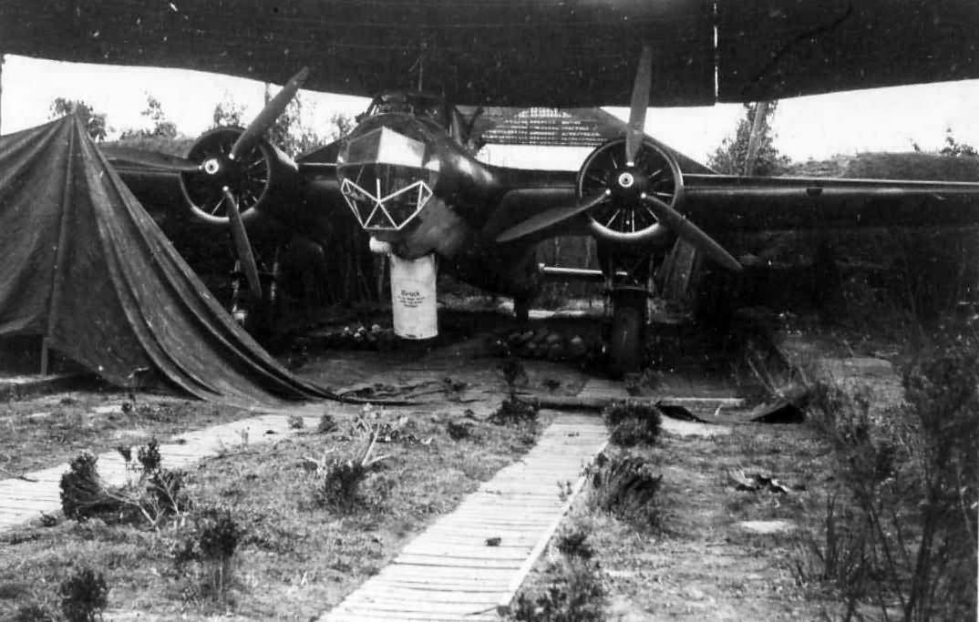 German bomber Do17 Z airfield