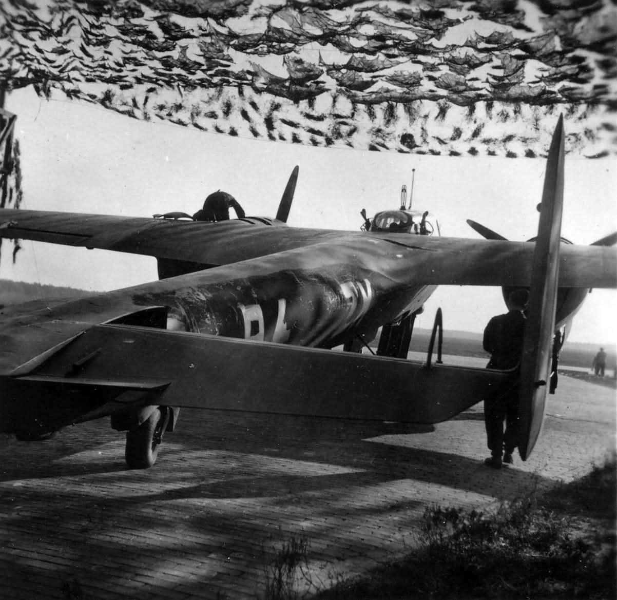 Night fighter Dornier Do 17 Z of the NJG 2 at Gilze Rijen Holland 1940