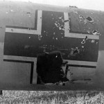 Damaged Do 17 Z 3Z+FT of 9/KG 77 France 1940