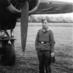 Dornier Do17 and Luftwaffe soldier