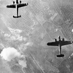 German Dornier Do 17 bombers over West Ham London 7 September 1940