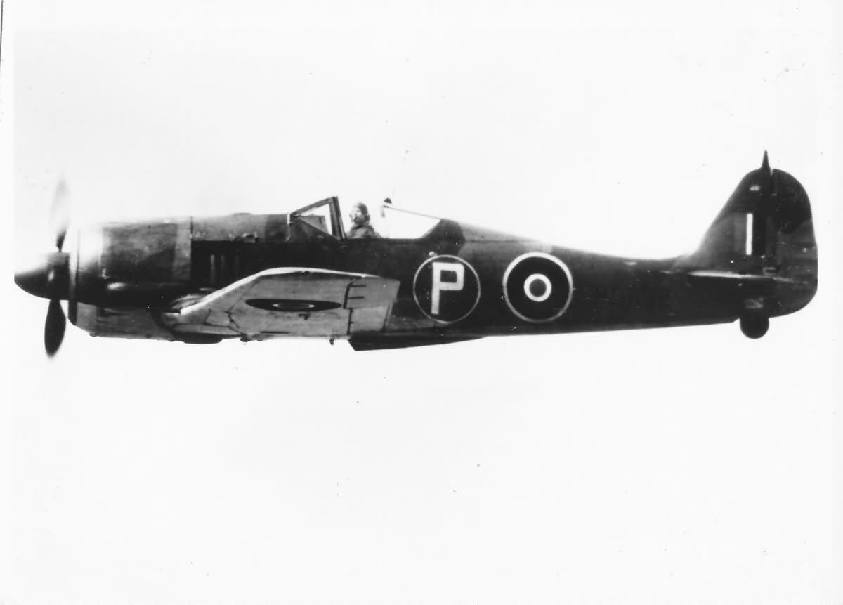 British Fw 190 in flight during World War II