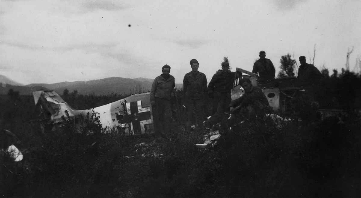Focke Wulf Fw 190 and US troops 1945