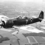 Captured Fw 190A-4 PE882 in flight