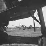 Focke Wulf Fw 190 and Ju87 on Airfield