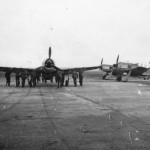 Focke Wulf Fw 190 fighters on Airfield