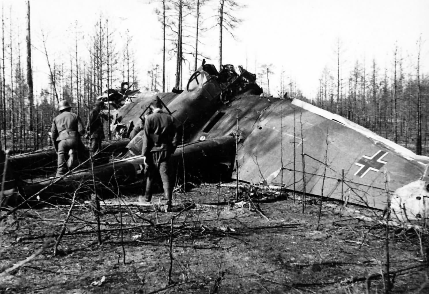 Fw189 Uhu crashed