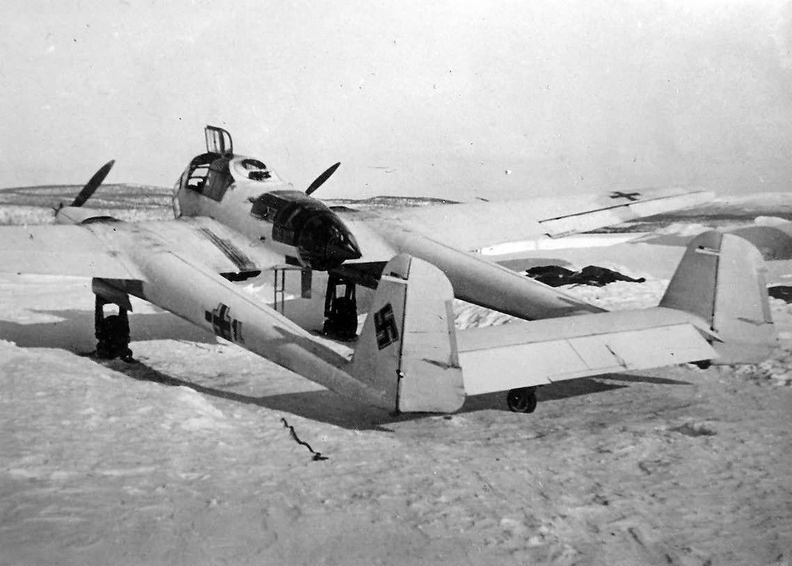 Focke-Wulf Fw189 with winter camo