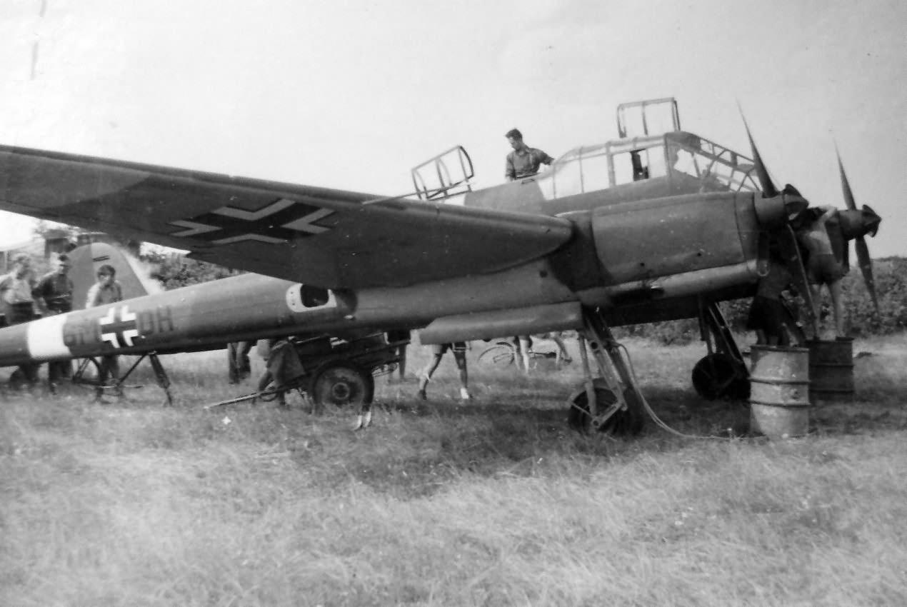 Focke-Wulf Fw 189 code 6M+DH of the Aufklarungsgruppe 11