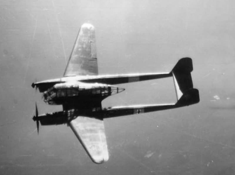 Fw 189 Uhu of the NAG 12 in flight 1942