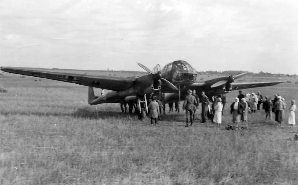 Fw 189 on a grass landing ground
