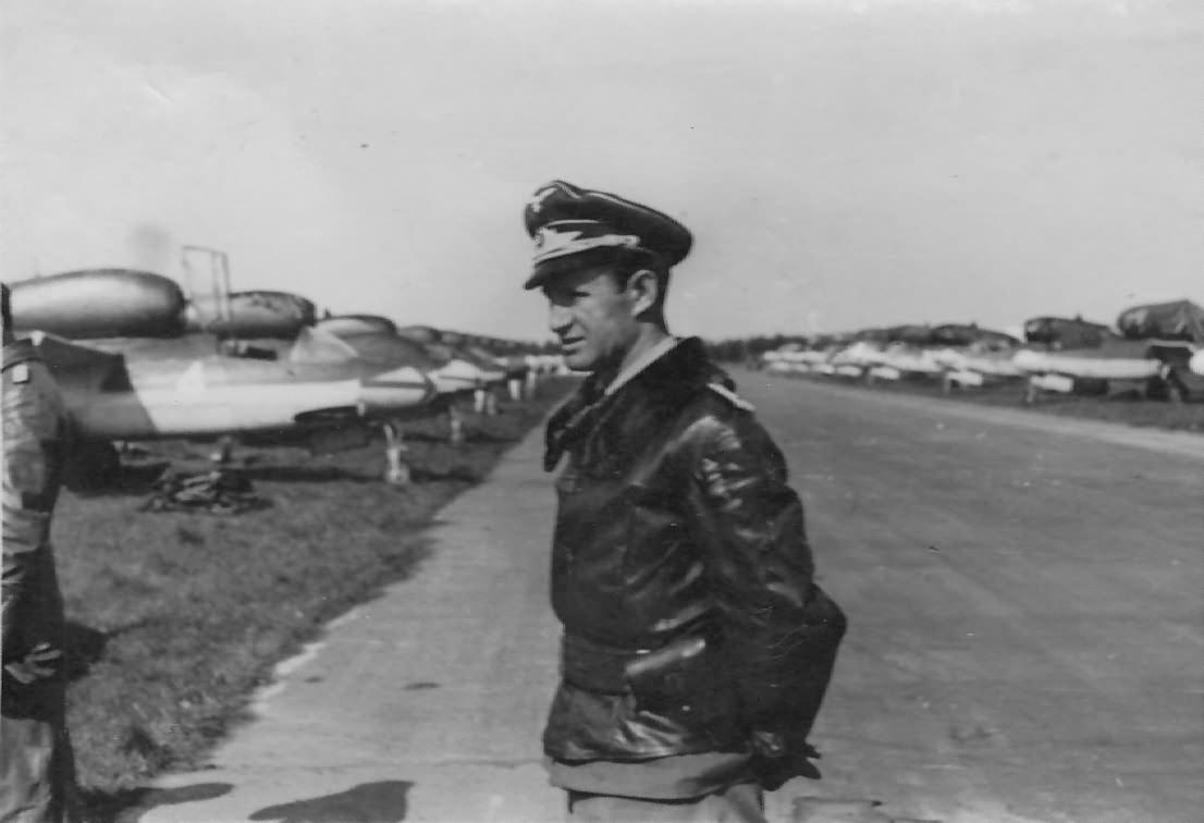 He 162 pilot Oberleutnant Karl-Emil Demuth – Leck 1945