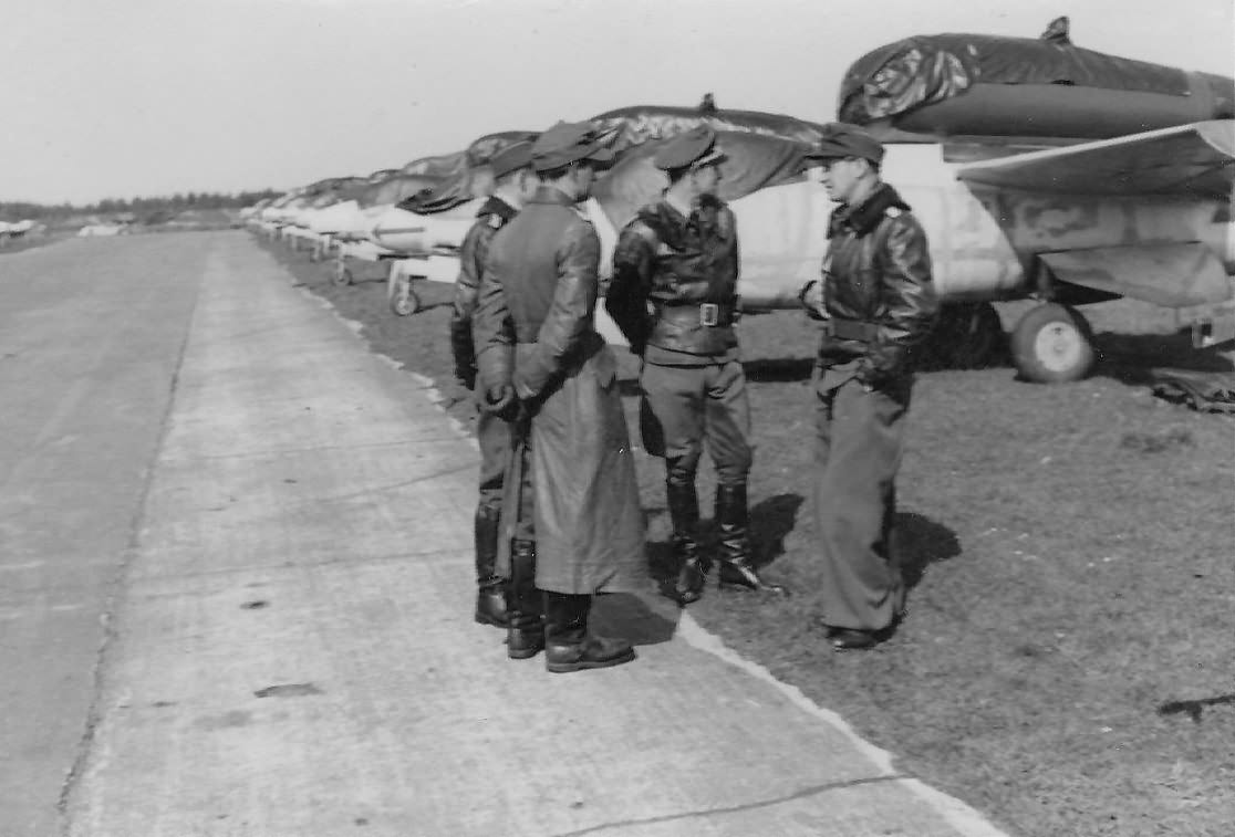 He 162 and pilots of the I/JG 1, 8 May 1945