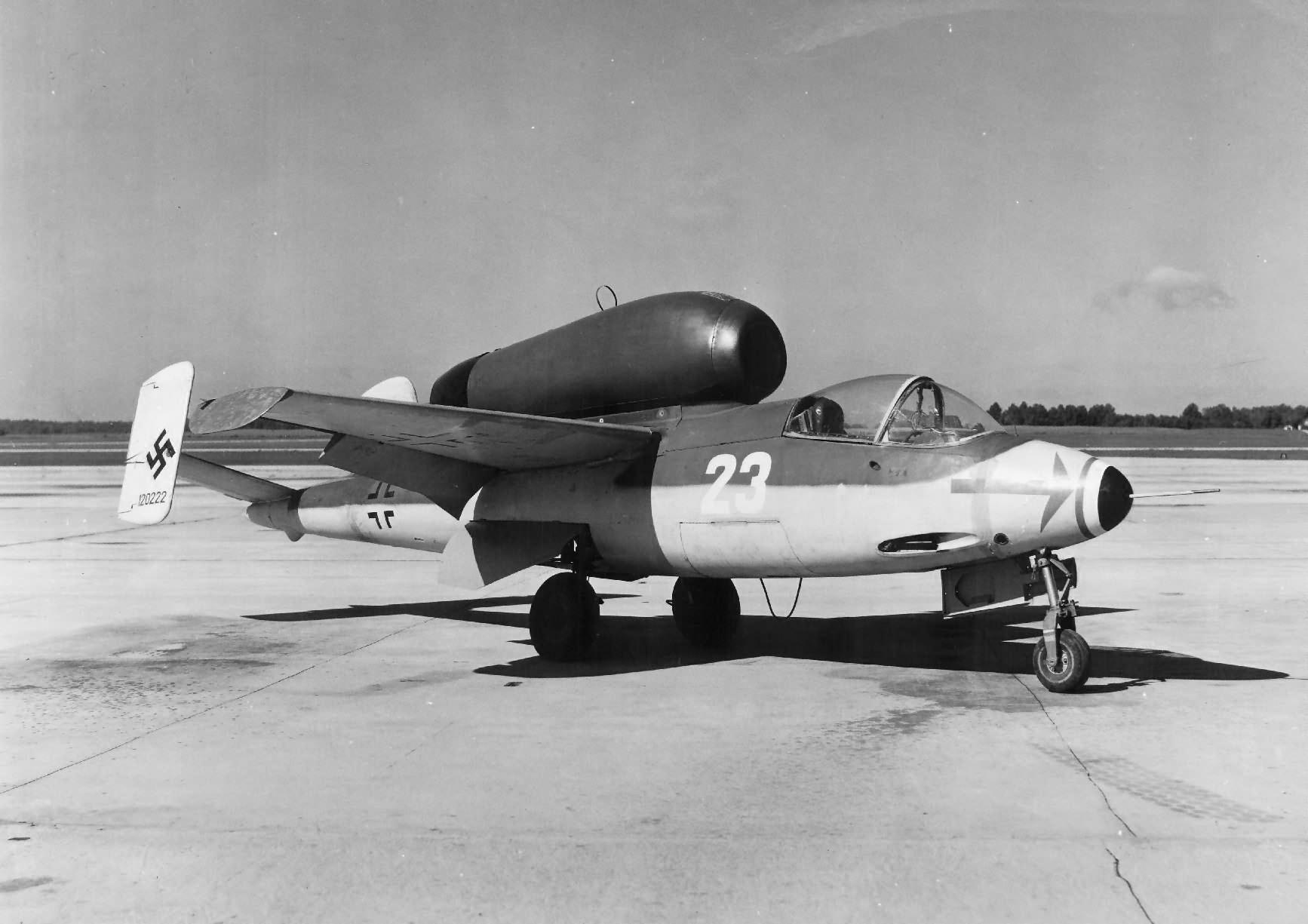 He 162 Volksjäger white 23 120222, USA 1945