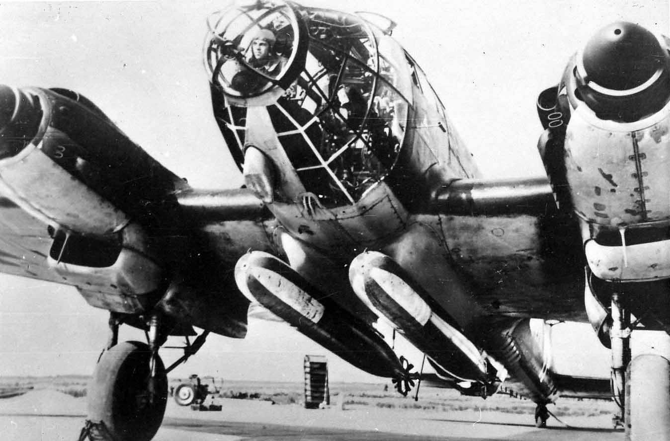 Heinkel He 111 torpedo mounted under aircraft | World War Photos