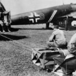 German Crew Hauling Bombs to Heinkel He 111 of KG 54 Totenkopf 1940