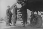 He 111 2/KGr 100 in Vannes France 1941 landing gear