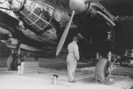 """He111 of the 2/KGr 100 """"Wiking"""" in Vannes France 1941 night camo"""